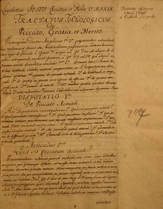 Tractatus Theologicus de Virtutibus Theologicis  de Peccato, Gratia, et Merito
