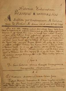 Historiae Ecclesiasticae, Periodus II. Universalis, ab 312 ad 395