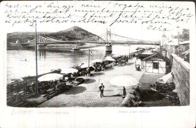 Piac a Duna-parton, Budapest 1902.