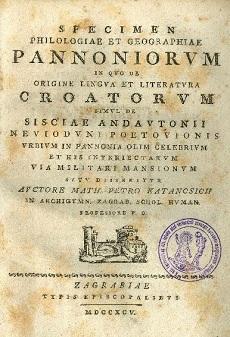Specimen philologiae et geographiae pannoniorvm