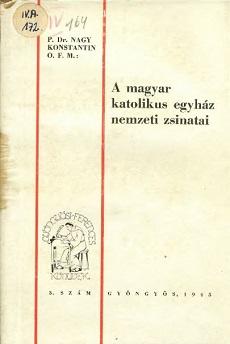 A magyar katolikus egyház nemzeti zsinatai