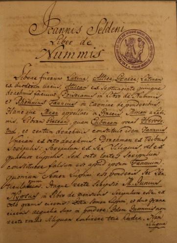 Liber de Nummis