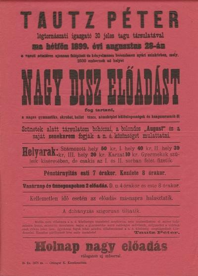 Tautz Péter- Nagy disz előadása