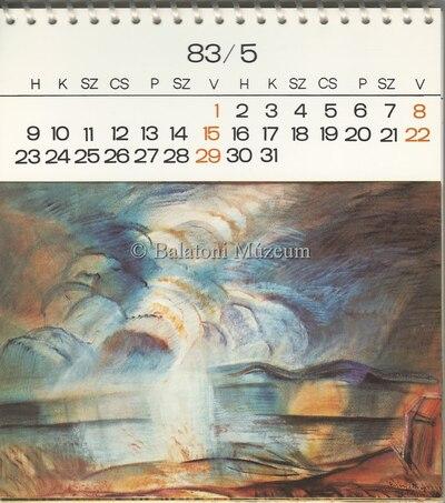 Egry József festményei 1983-as naptárban