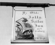 Ye Olde Jolly Sailor Inn 15th Century - Vendéglő Cégér