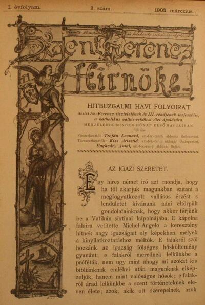Szent Ferencz hírnöke 1903. márczius