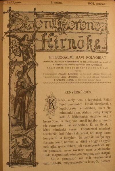 Szent Ferencz hírnöke 1903. február
