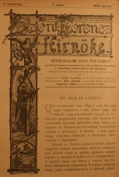Szent Ferencz hírnöke 1902. január