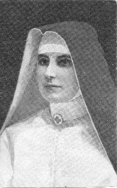 Levelezőlap, ápolónővér portréja