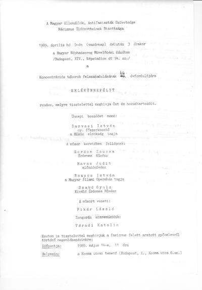 M. Pálné sz. S. Valéria naplója és visszaemlékezése
