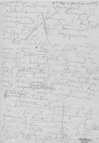 G. Olga naplóbejegyzései