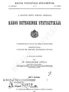 A Magyar Szent Korona országai rákos betegeinek statisztikája
