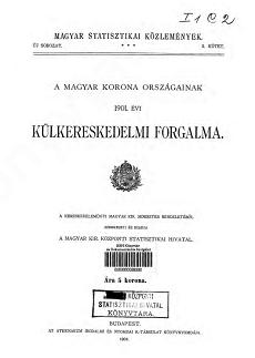 A Magyar Korona országainak 1901. évi külkereskedelmi forgalma