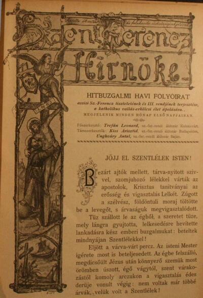 Szent Ferencz hírnöke 1903. június