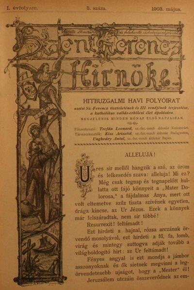 Szent Ferencz hírnöke 1903. május