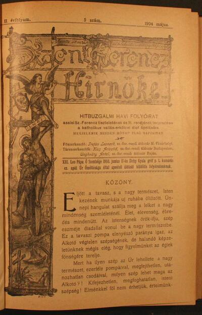 Szent Ferencz hírnöke 1904. május
