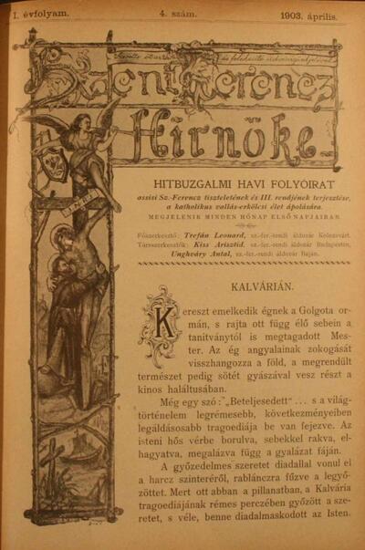 Szent Ferencz hírnöke 1903. április