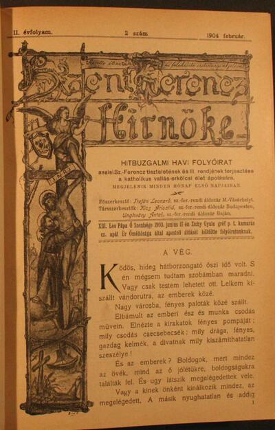 Szent Ferencz hírnöke 1904. február
