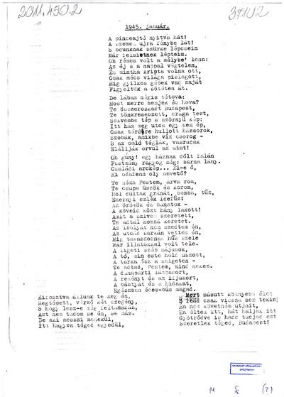 S. Károlyné M. Gizella feljegyzései