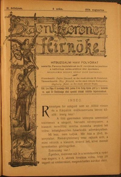 Szent Ferencz hírnöke 1904. augusztus