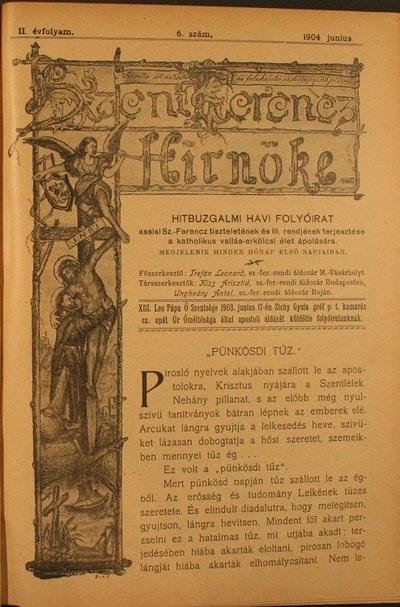 Szent Ferencz hírnöke 1904. június