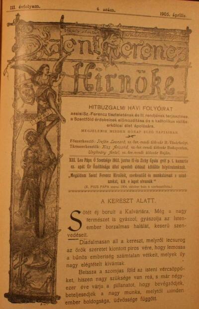 Szent Ferencz hírnöke 1905. április