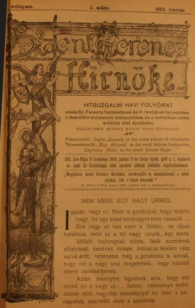 Szent Ferencz hírnöke 1905. február