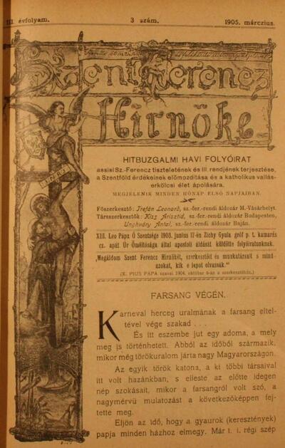 Szent Ferencz hírnöke 1905. március
