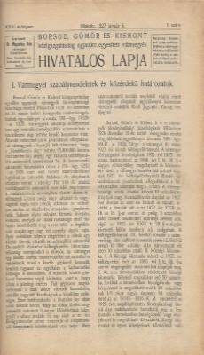 Borsod, Gömör és Kishont hivatalos lapja