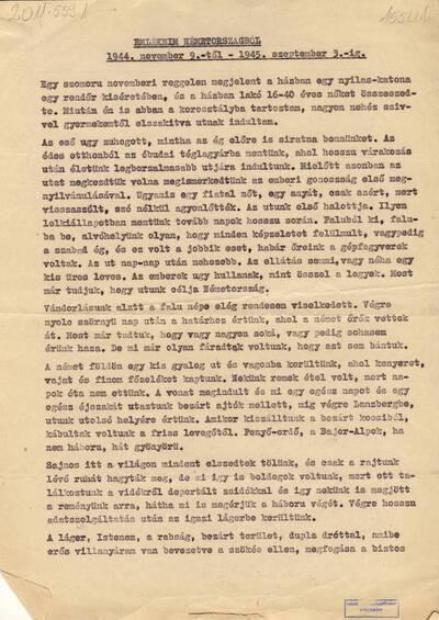 Gy. Béláné M. Katalin: Emlékeim Németországból