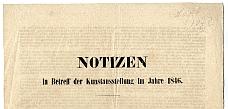 Tudnivalók az 1846. évi iparműkiállításról, német nyelven