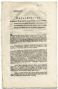 Felszólítás a bécsi közkiállításon való részvételre, 1835