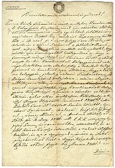 A budai Helytartótanács árusítási engedélye 1841-ből Kricse Károly kalapgyártó részére, 1847-es másolat