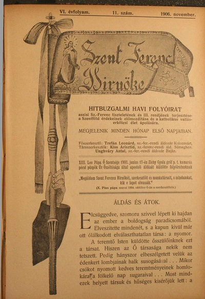 Szent Ferencz hírnöke 1906. november