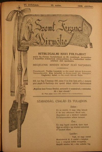 Szent Ferencz hírnöke 1906. október
