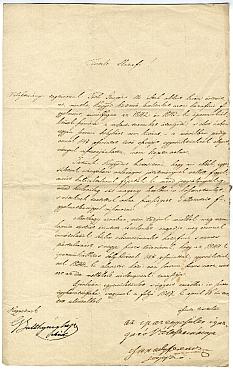 Az Iparegyesület ismételt köszönő levele Emmerling Károlynak, 1847