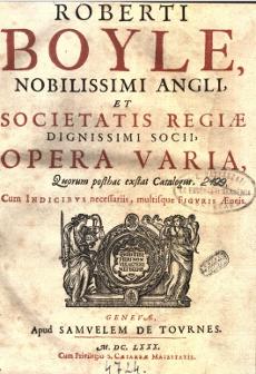 Robert Boyle: Opera varia 1.rész