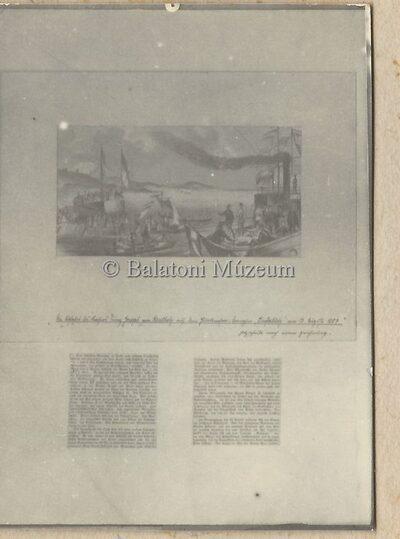 Reprodukció, Ferenc József elutazása Keszthelyről 1857-ben