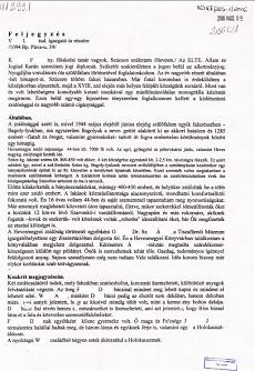 Dr. K- Ferenc feljegyzései