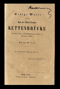 Adam Clark tanulmánya a Lánchíd építésével kapcsolatban, 1843