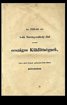 Jelentés a Duna s egyéb folyamok szabályozásáról, 1843