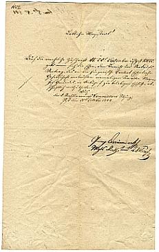 A Szépítő Bizottmány átirata a Városi Tanácshoz a vasút tárgyában, 1844