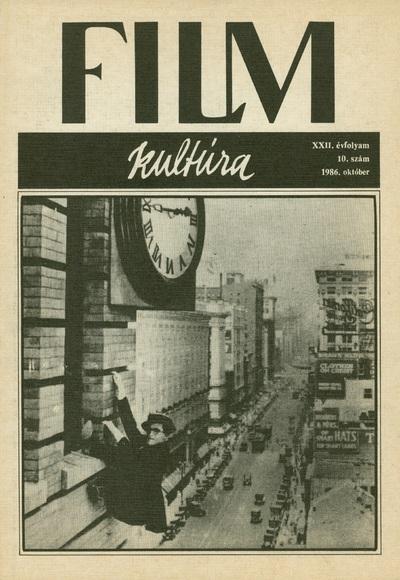 Filmkultúra 1986/10. szám