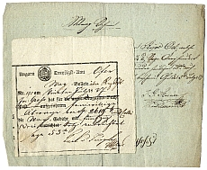 A Harmincadhivatal által kiadott számla, 1837