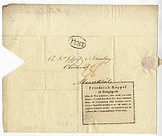 Kappel Frigyes kereskedésének hirdetése, 1822?