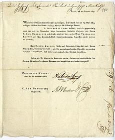 Kappel és Macher cég közös vállalkozás megszűnése, 1819