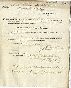 F. Liedemann cég változásáról szóló tájékoztató irat, 1834