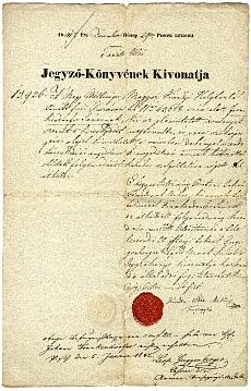 Frankendorfer János dohánykereskedési engedélye, 1841