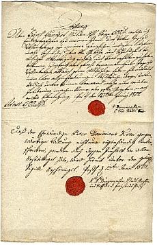 Kren Domokos páter nyugtája a Staffenberger családnak, 1801
