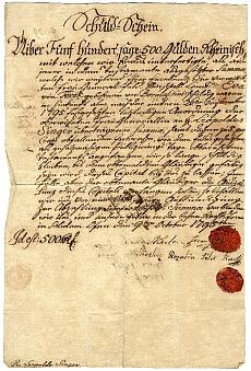 Adóslevél, Kerlen Ferenc és Rozália, 500 gulden, 1795